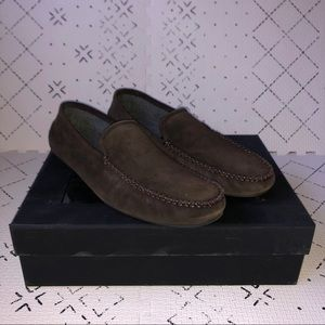 Hugo Boss Brown Suede Loafer Slipper US 10